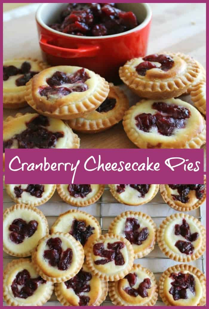 Cranberry Cheesecake Pies - a delicious festive alternative to traditional mince pies which are full of Christmas flavours!