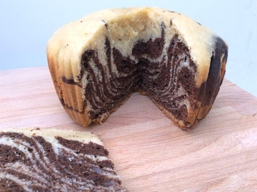 Slow cooker zebra cake