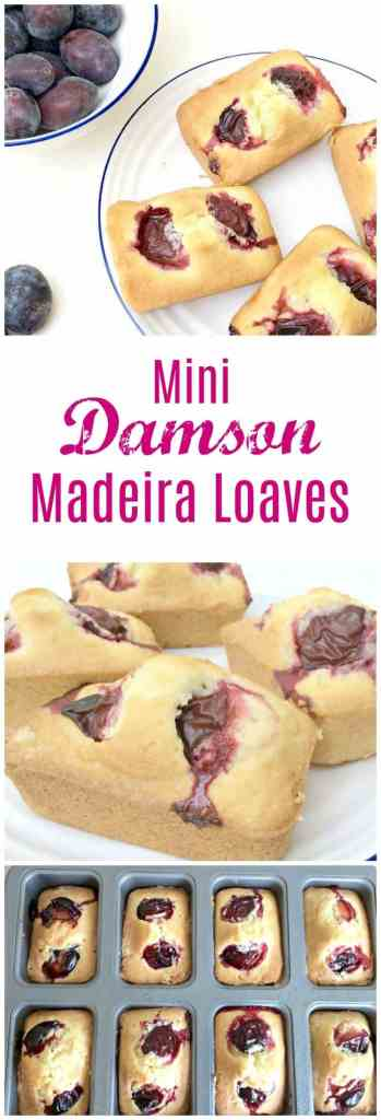 Mini damson madeira loaves - bake with summer fruit and share the love