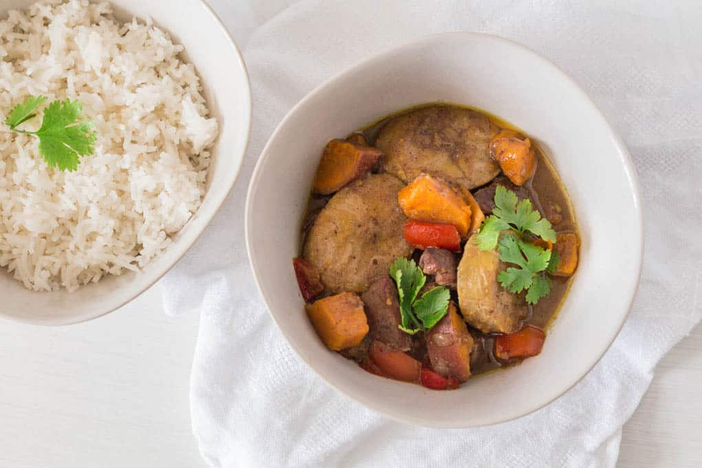 Slow cooker duck and plantain curry from Recipes from a Pantry