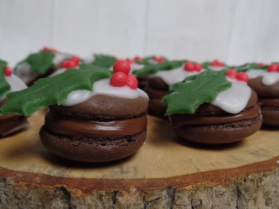 Christmas pudding macarons from Emily's Recipes and Reviews