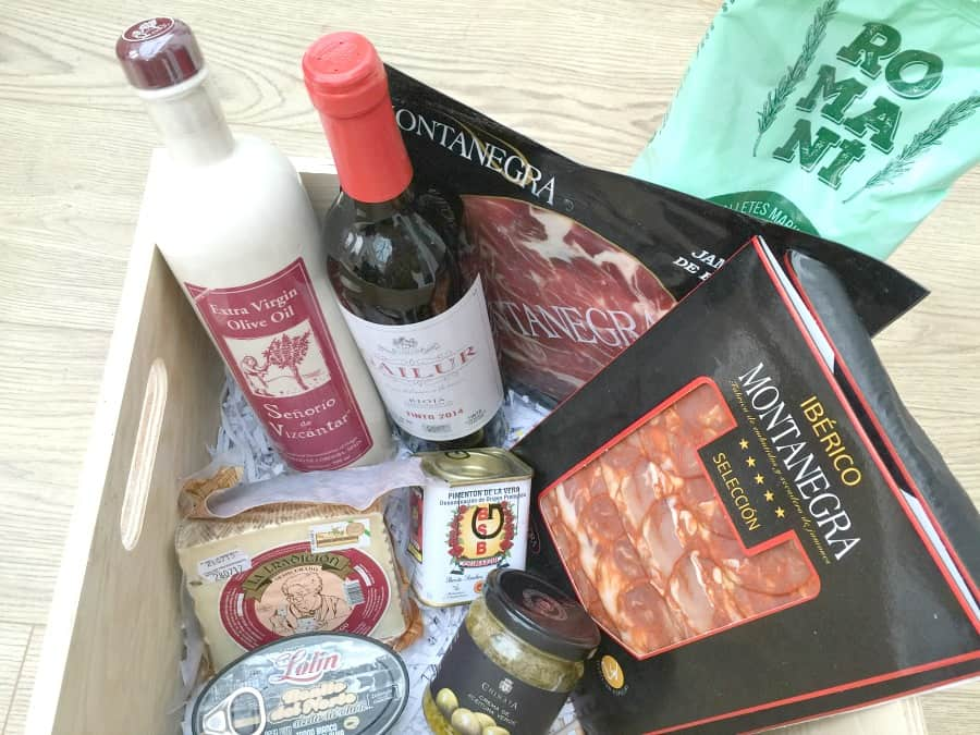 Spanish hamper from Grey's Fine Foods