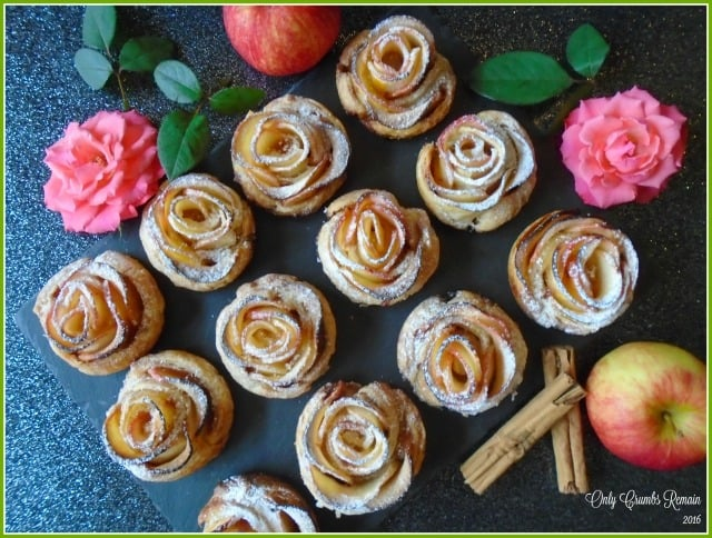 Only Crumbs Remain - a dozen apple roses