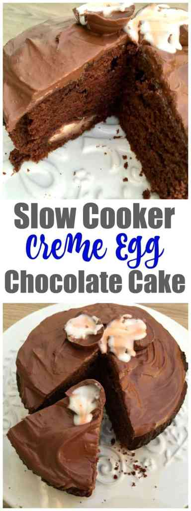 Slow cooker creme egg chocolate cake - your chocolate fix for Easter right here!