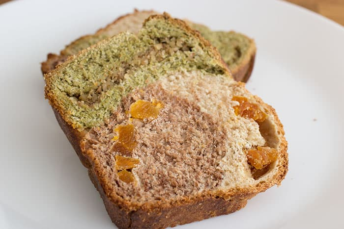 Matcha and cocoa fruit loaf by Cook Style
