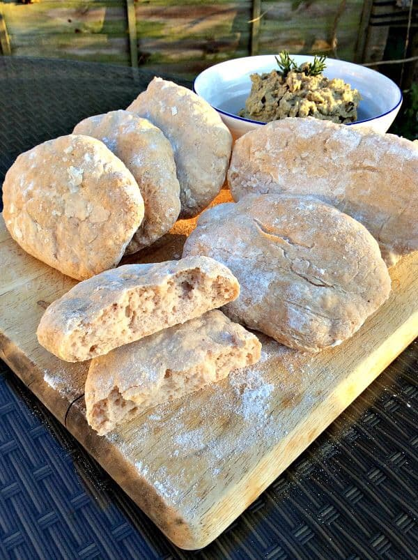 Gluten-free pitta breads with olive houmous - my 2015 GBBO bakes