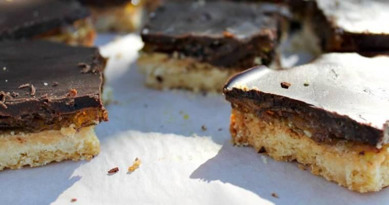 Jaffa Shortbread Slice – #GBBO Week 1