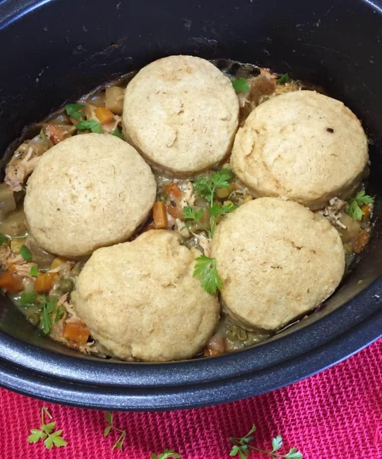 Slow cooker chicken pot pie - Farmersgirl Kitchen