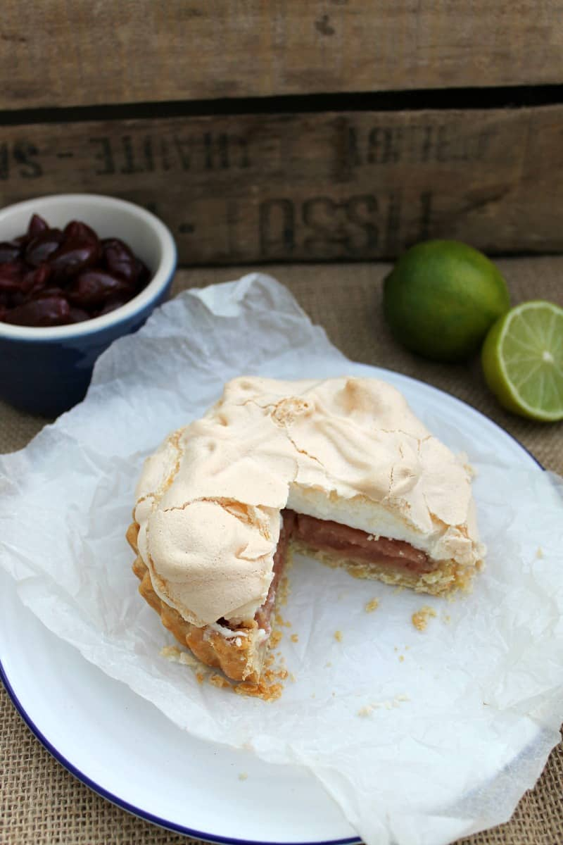 2016 GBBO bakes - Mini cherry lime meringue pies