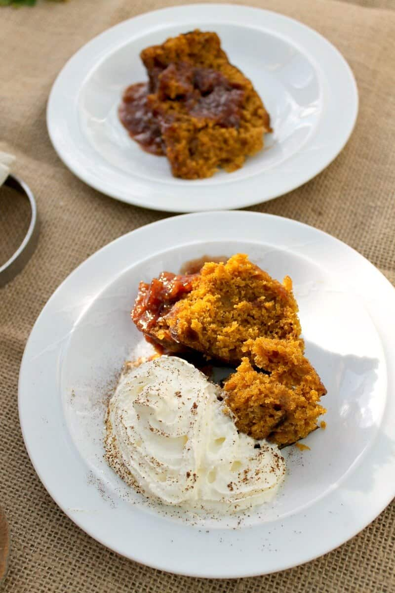 Slow Cooker Pumpkin Spice Pudding Cake
