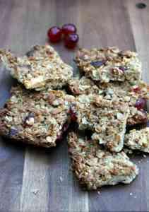 Cherry, almond and white chocolate flapjacks