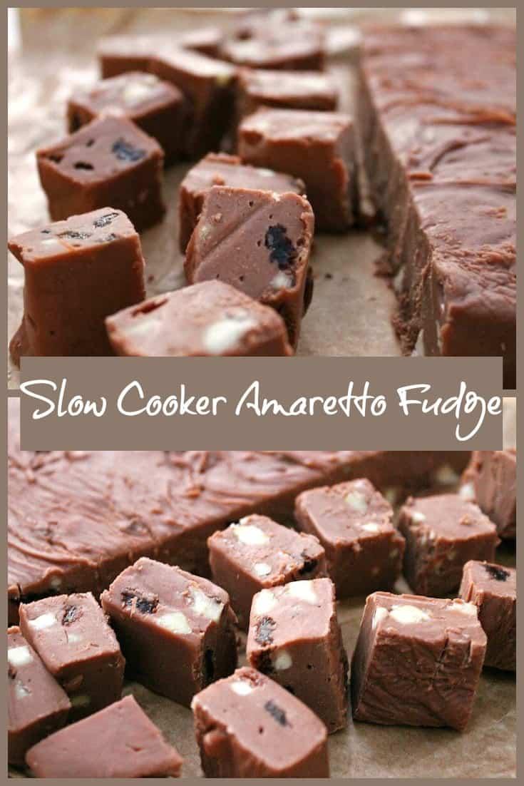 Slow Cooker Amaretto Fudge