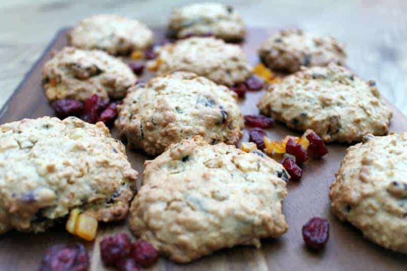 Ginger and Cranberry Oatmeal Cookies