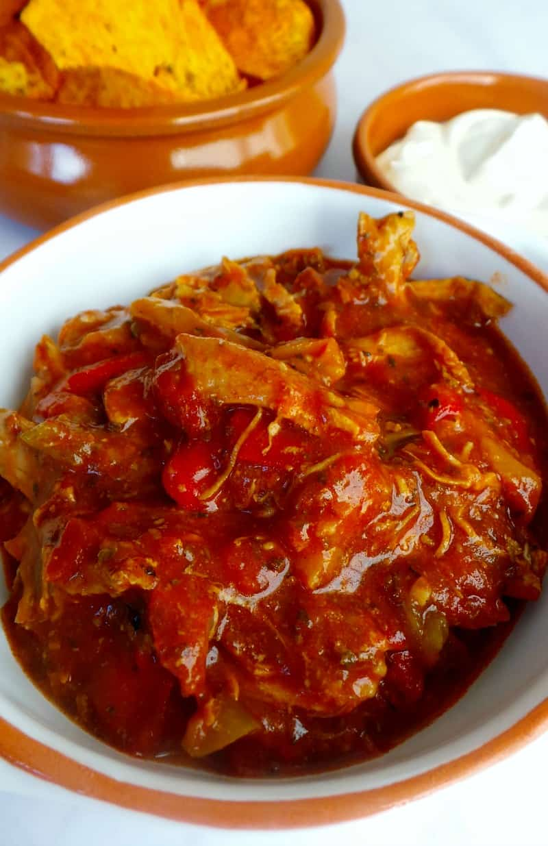 Slow cooker Chicken and chorizo stew from Curly's Cooking