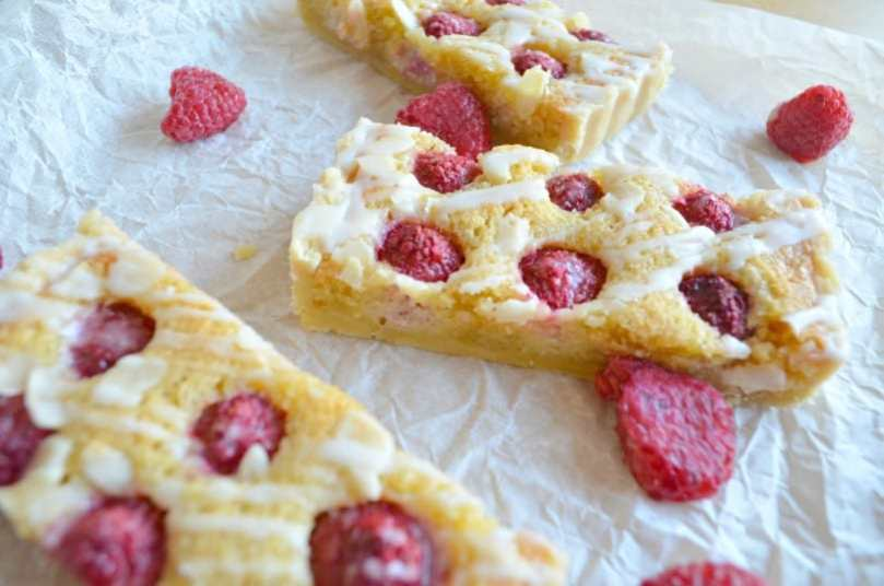 Raspberry and Frangipane Tart with Lemon Drizzle