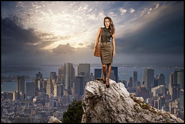 žena na planini