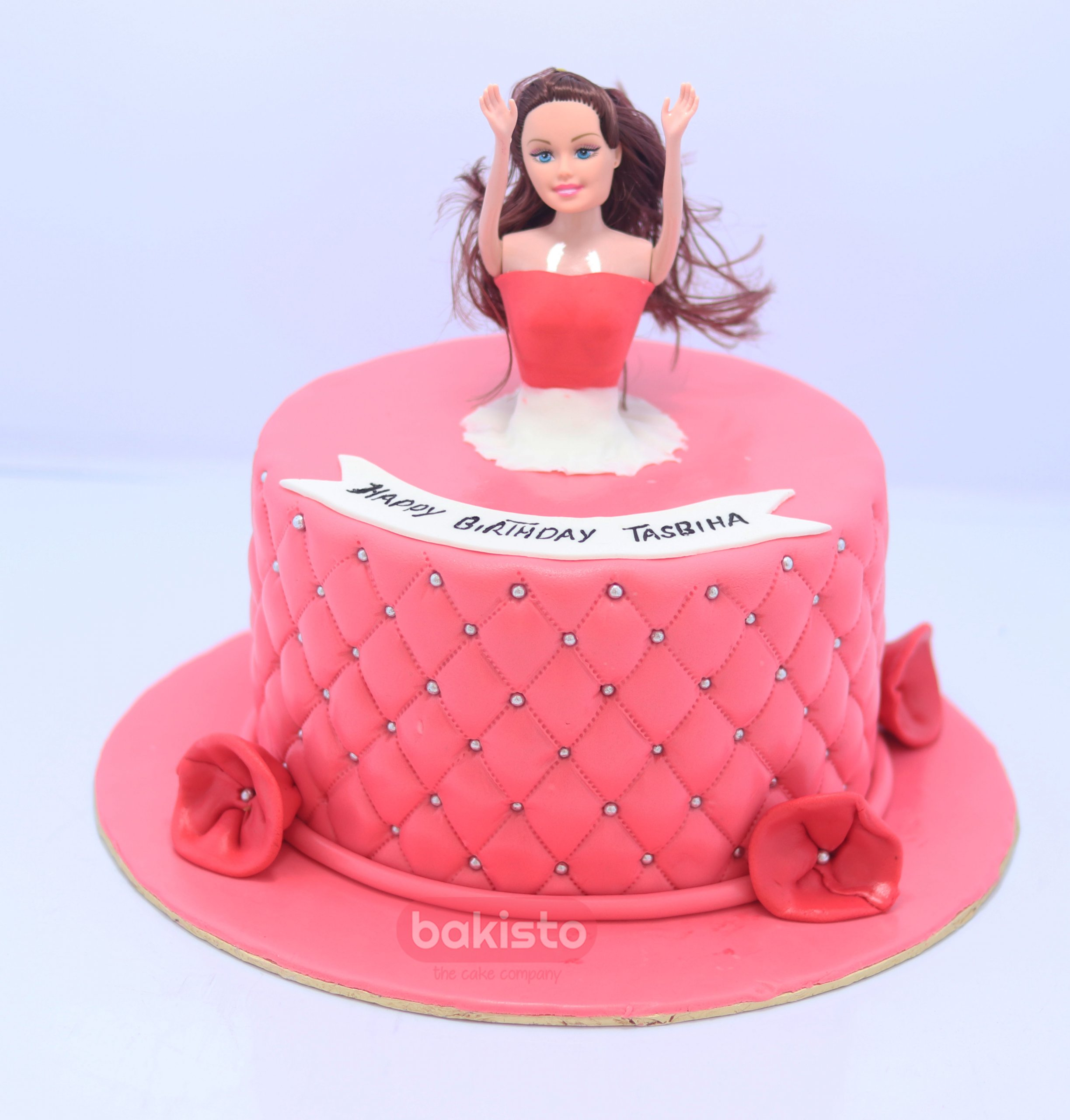 Awe Inspiring Barbie Birthday Cake Now Delivered At Your Home Funny Birthday Cards Online Fluifree Goldxyz
