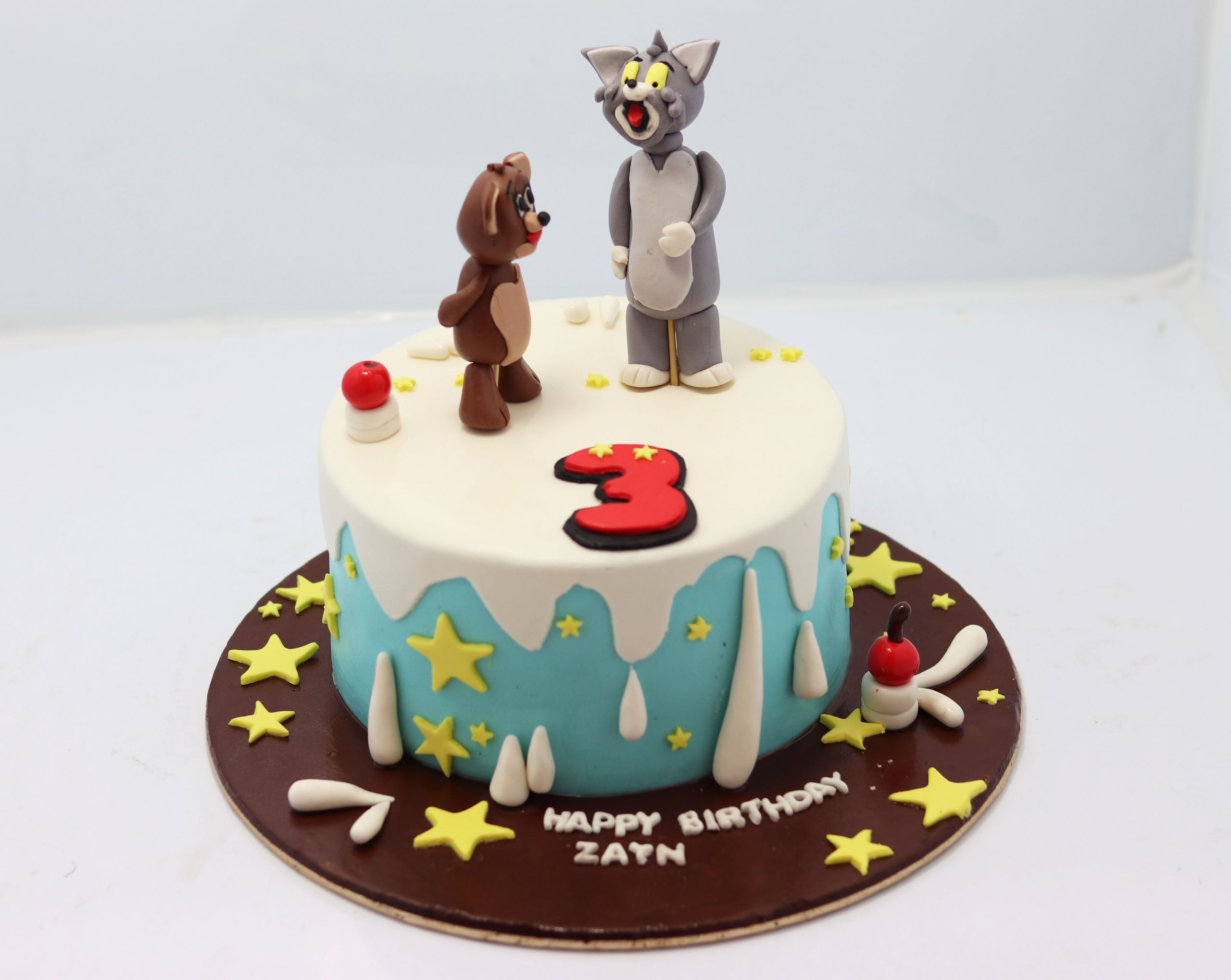 Outstanding Tom And Jerry Theme Birthday Cake Tom And Jerry Cake Near Me Birthday Cards Printable Trancafe Filternl