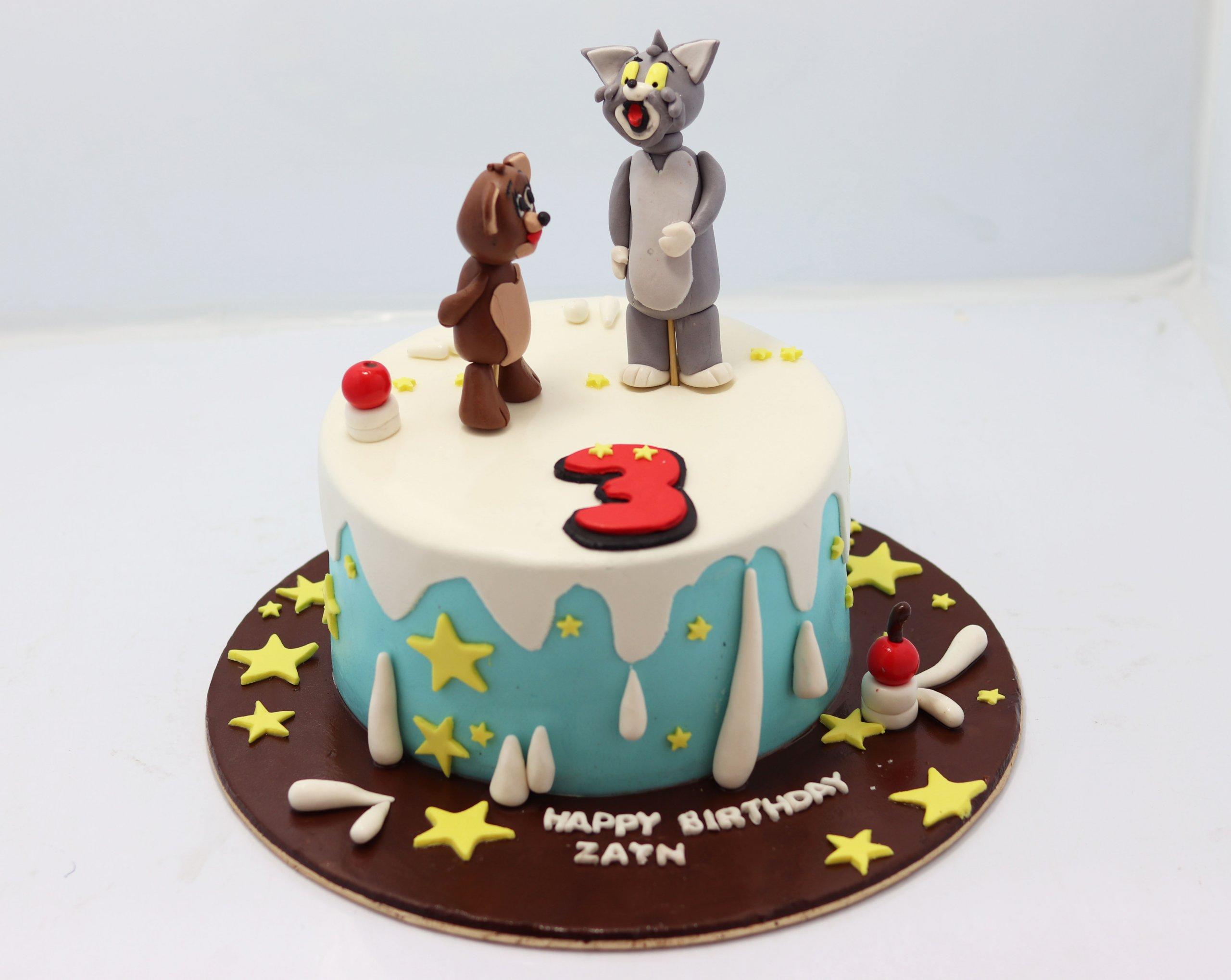 Pleasant Tom And Jerry Theme Birthday Cake Tom And Jerry Cake Near Me Funny Birthday Cards Online Alyptdamsfinfo
