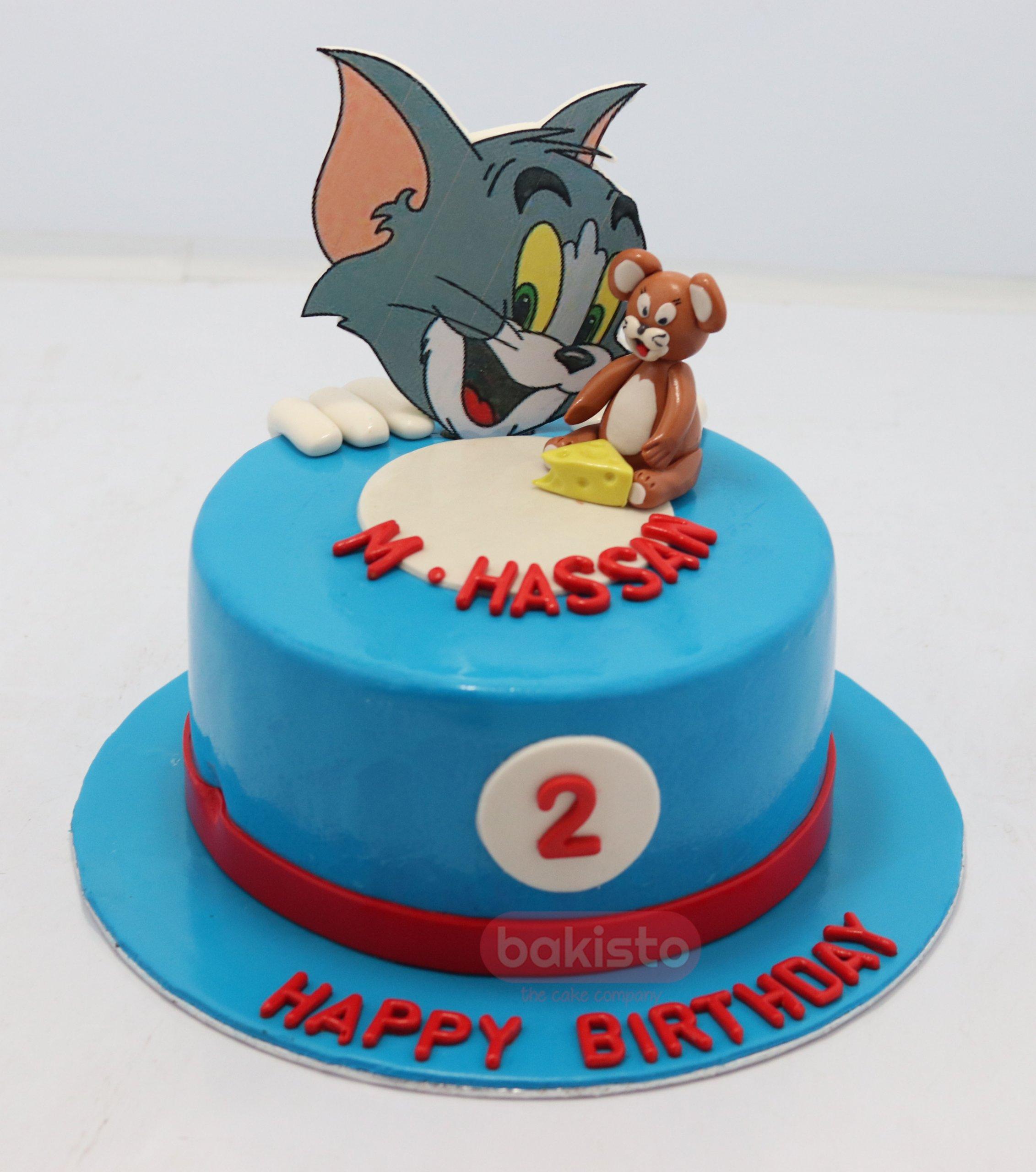 Superb Customized Tom And Jerry Theme Birthday Cake By Bakisto Birthday Cards Printable Trancafe Filternl