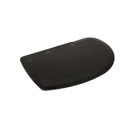 Deegkrabber kunststof asymmetrisch 12 x 8,6 cm (zwart)