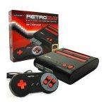 Consola Retroduo Snes-Nes, Color Rojo Negro + 2 Mandos