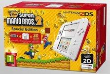 Nintendo 2DS - Consola, Color Rojo + New Super Mario Bros 2