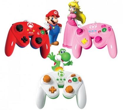 Mando Fight Pad diseños de Yoshi, Mario y Peach
