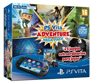 PlayStation Vita - Consola + Mega Pack Adventure + MC 8 Gb