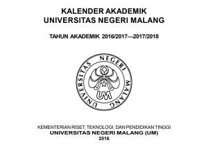 Kalender akademik UM 2016/2017-2017/2018