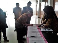 Registrasi Peserta Workshop Sosialisasi SAKIP