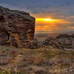 Gobustan Rock Art Cultural Landscape. Gobustan National Park Azerbaijan