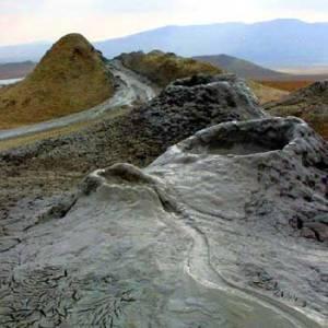 Mud Volcanoes In Baku. Mud Volcano Azerbaijan