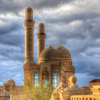Bibi-Heybat mosque in Baku, Azerbaijan Republic