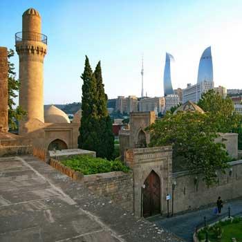 Shirvanshahs Palace Mosque Baku, Azerbaijan. Saray Məscidi