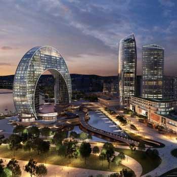 Crescent Baku Hotel. Crescent Development Project. Crescent Bay Baku