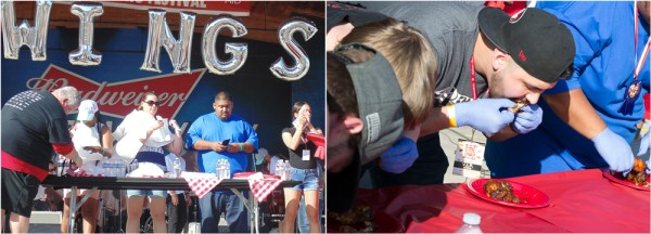 Wing Eating and Fire Wings Contest Photos