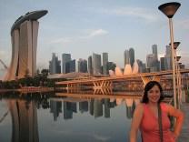 Marina Bay sands and the Singapore skyline