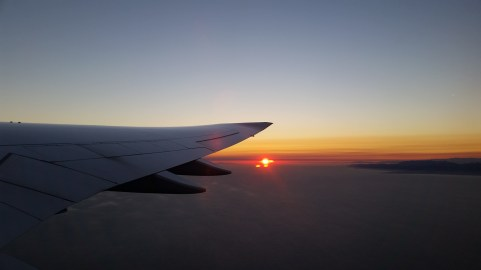 Sunset over the California Coast