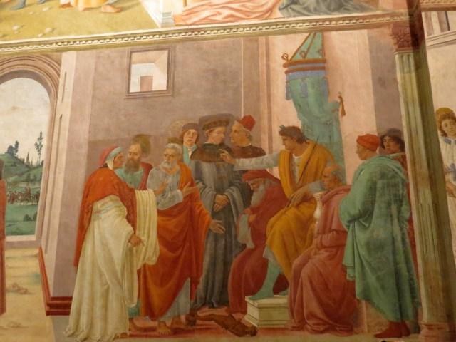 Frescoes in Brancacci Chapel - Disputation with Simon Magus