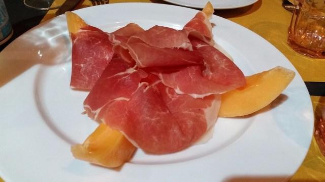 Priscuitto e melone at Mastro Cigliela