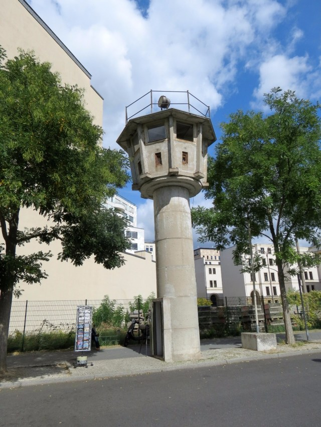 An old Berlin Wall Watchtower. Note the sniper holes.