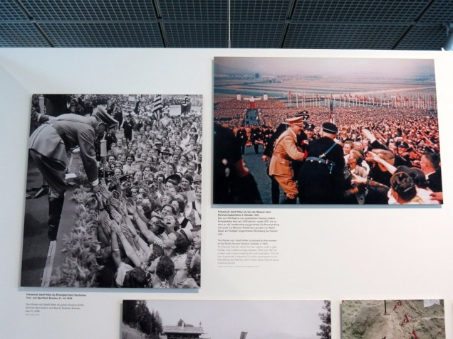 The Topograhy of Terror exhibit details the rise of the Nazi. Chilling pictures of Hitler being revered in the late 1930s.