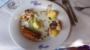 Seafood salad in Corniglia