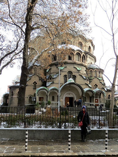 Saint Paraskeva church, just around the corner from our apartment in Sofia