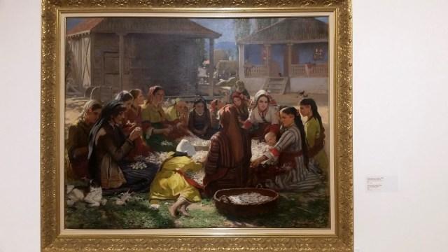 Ivan Mrkvicka - Cocoon Shelling, 1880s