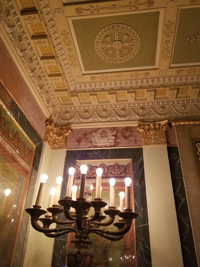 Entrance Hall - electric candelabra