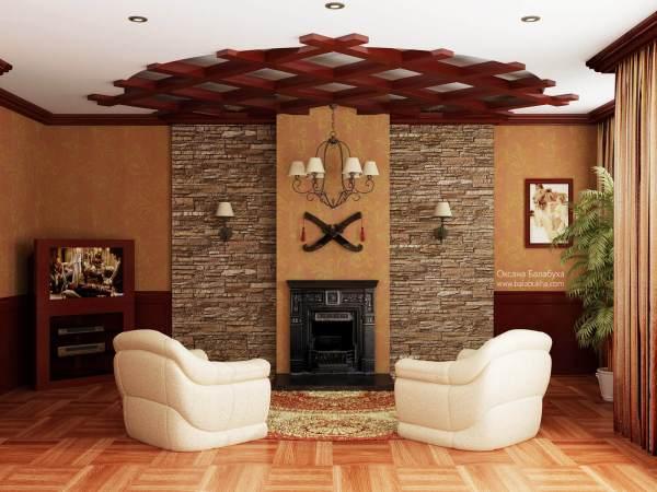 Встроенные потолочные светильники в интерьере
