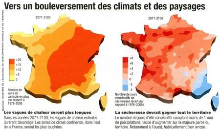 """Résultat de recherche d'images pour """"carte vignoble réchauffement climatique france"""""""