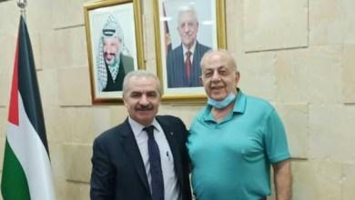 صورة اللواء شديد يبحث مع رئيس الوزراء قضايا المتقاعدين العسكريين الفلسطينيين